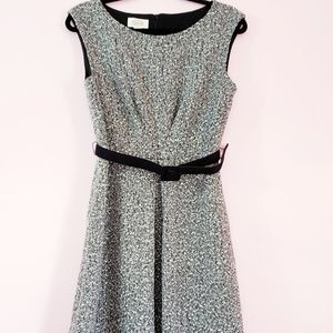 TalbotsTweed Fit and Flare Wool Blend Dress Size 8